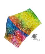 Face Mask Batik Tie Dyed Sunburst Colorful Cotton Facemask Handmade USA - $10.00