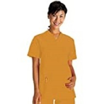 White Swan Fundamentals Unisex Scrub Top NEW Golden Ginger Extra Small o... - $19.99
