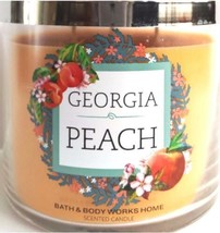 Bath & Body Works Georgia Peach Candela 3 Stoppino 414ml Casa Collezione - $31.58