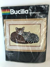 Bucilla Feline Friends Kit New/Unopened Needlepoint 12X16 Vtg 1995 Eva B... - $29.69