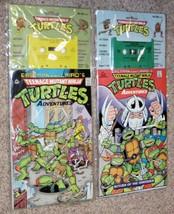 Vtg Teenage Mutant Ninja Turtles Comics 1 & 2 with Cassettes ~ New Unope... - $29.77