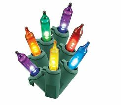 Spool of Philips 200ct Christmas LED Smooth Mini String Lights Multicolored NEW image 3