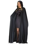 "56"" BLACK POLYESTER HOODED CAPE VAMPIRE GHOUL DIVA HALLOWEEN COSTUME ACCESSORY - $18.39"