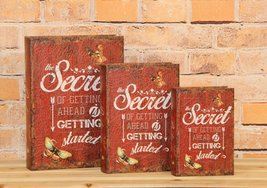 """""""The Secret of Getting Ahead is Getting Started"""" Decorative Book Boxes Diversion - $24.74"""