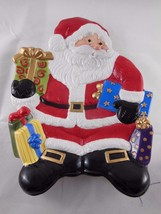 """Vintage Fitz & Floyd Santa Claus with Gifts Cookie Tray Plate 8.5"""" x 10"""" - $14.84"""
