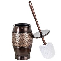 """Dublin Decorative Toilet Cleaning Bowl Brush with Holder and Lid - 5"""" x ... - $28.19"""