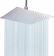 "Large Rain Shower Head, Polished Chrome, 12"" x 12"" - $22.45"