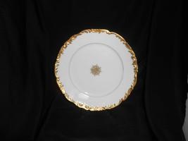 """Limoges Luncheon Plate Tressemanes & Vogt 8 1/2"""" Gold Gilt Multiples Ava... - $19.00"""