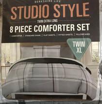 Berkshire Life Studio Style 8 Piece Comforter Set - TWIN XL - Gray - $49.49