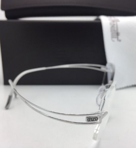 SILHOUETTE Eyeglasses 4489 00 6050 51-17 140 23K Gold Plated Shiny Silver Frame