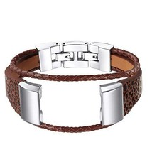 For Fitbit Charge 2 Bands bayite Leather Metal Clasp Replacement Accesso... - $452,81 MXN