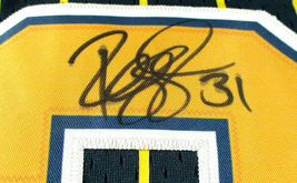 REGGIE MILLER / HALL OF FAME / AUTOGRAPHED INDIANA PACERS THROWBACK JERSEY / COA image 7