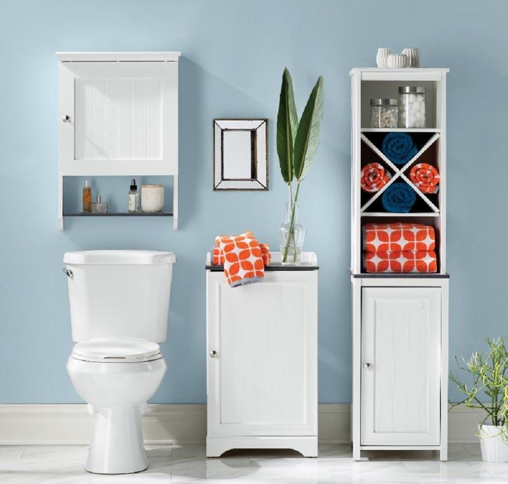 Narrow Bathroom Storage Cabinet Towel Linen Tower Bath ...