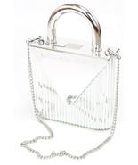 Michael Kors Silver Mercer Locked Clutch Shoulder Bag Small Handbag RRP £350 - $224.41