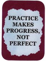 """Practice Makes Progress Not Perfect 3"""" x 4"""" Love Note Music Sayings Pocket Card, - $2.69"""