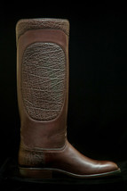 Handmade Men's Brown Elephant Print Leather Cowboy Mexican Western Taxes Boots - €425,87 EUR