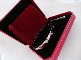 "Us Seller! Screw Driver Bracelet Set. White Gold Plate Med Size 19cm 7.5"" Wgs - $49.95"
