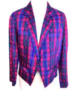 90s Vintage 100% Silk MAHARANI Handwoven Ladies Cropped Blazer Jacket M-L - $75.00