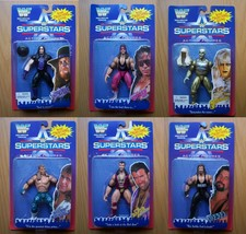 WWF SUPERSTARS Jakks 1st Series Full Set (6) MOC Case Fresh 1996 BCA SUP... - $599.99