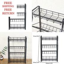 4 Tier Kitchen Spice Rack Standing Holder Jar Organiser Storage Spice Shelf - £41.81 GBP