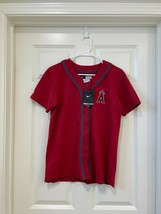 NIKE WOMEN'S VINTAGE RED ANGELS MLB JERSEY 00022253XAN6MED SIZE M - $37.39