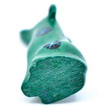 Tabaka Chigware Hand Carved Kisii Soapstone Green Puppy Dog Miniature Figurine image 5