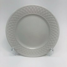 "LNT Home Oneida BASKET WEAVE Wicker White Made in China 7 5/8"" Salad Plate - $12.19"
