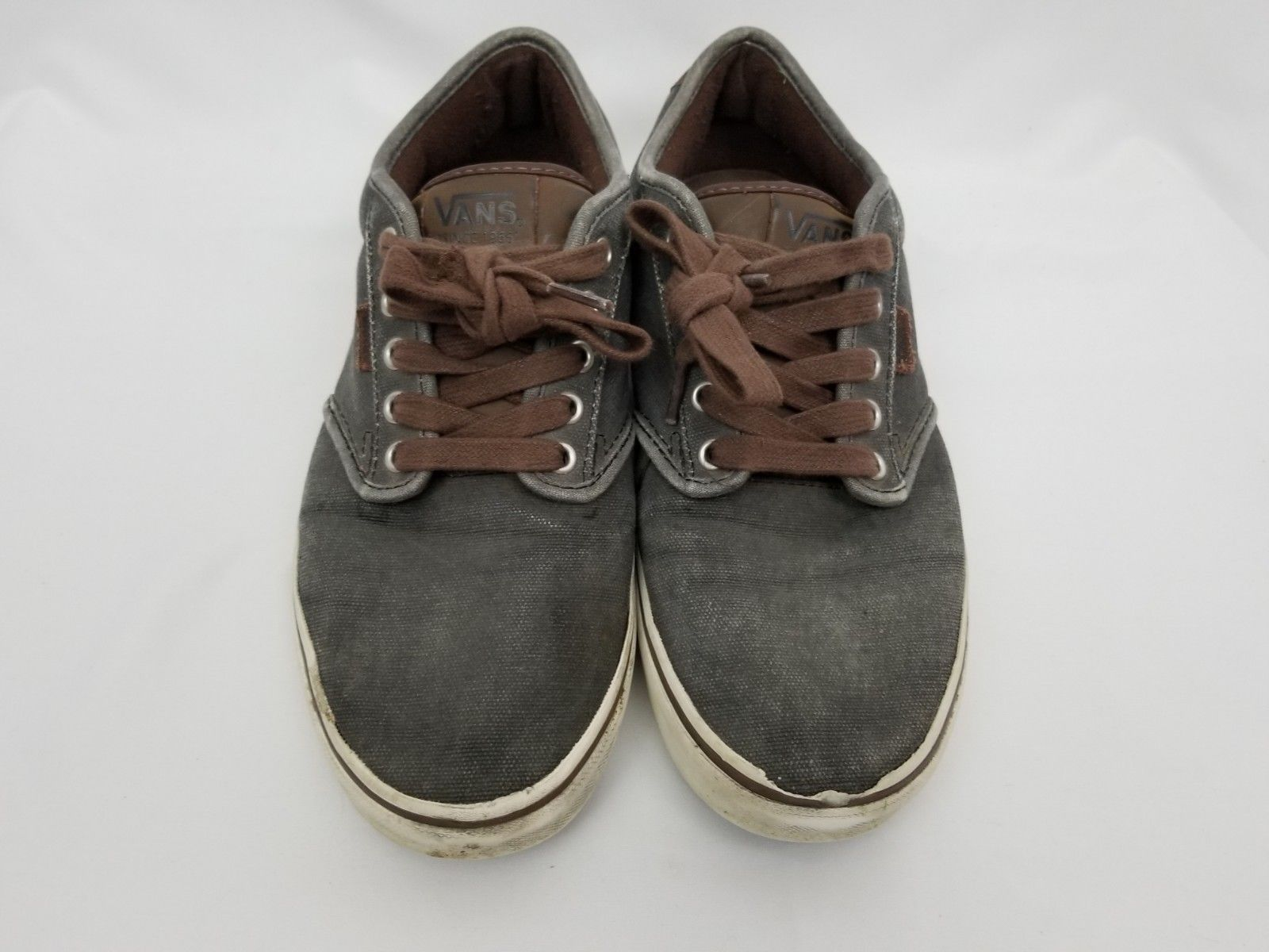 Primary image for Mens Size 10 Gray Brown Vans Sneakers Shoes Lace Up 721356