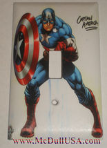 Captain America Light Switch Power Outlet Wall Cover Plate Home decor image 1