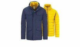 TIMBERLAND SNOWDOWN MEN'S NAVY 2 IN 1 WATERPROOF HOODED JACKET Sz M #A1M... - $125.99