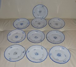 "10 ANTIQUE BOHEMIA POTTERY SALAD/DESSERT PLATES 7 1/4"" - $149.00"