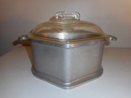 Vintage Guardian Service Ware Aluminum Stock Pot Triangle Roaster Glass ... - $27.71