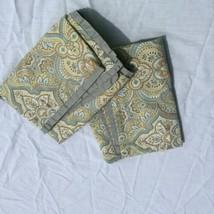 2 Standard Pillow Shams Pillowcases Pottery Barn Blue Green 100% Cotton - $29.02
