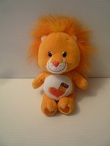 "2002 Care Bears Brave Heart Lion Cousin 8"" Beanie 20th Anniversary Curl - $14.85"