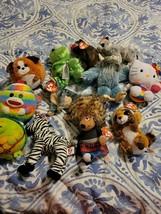 Lot Of 9 Beanie Babies 1 Disney 1 Warner Brothers small plush lot - $28.04