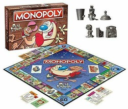 Ren & Stimpy Themed Classic Monopoly Board Game Custom Tokens USA - $35.60