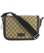 NEW GUCCI 449172 GG Guccissima Medium Canvas Messenger Bag - $1,075.00