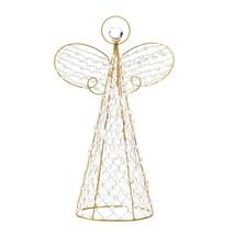 Angel Christmas Decor, Beaded Tree Topper Decoration Yard Angel Table Decor - $36.29