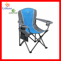 CAMP Folding Camping Chair Heavy Duty Support 350 LBS Oversized Steel Frame - $81.20