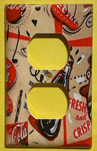 Coke Coca Cola bottles wallpaper Light Switch Outlet wall Cover Plate Home decor image 3
