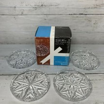 Fostoria American Crystal Coasters - Set of 4 The Great American Lead Cr... - $13.99