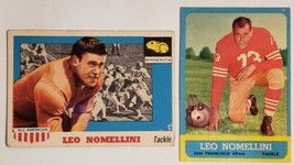 PAIR OF LEO NOMELLINI FOOTBALL CARDS TOPPS 1955 ALL AMERICAN #29 1963 #143 - $14.65