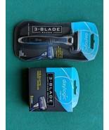 Lot 2 Daylogic Men 3-Blade Razor 5 Cartridges Refill Compares to Gillett... - $8.59
