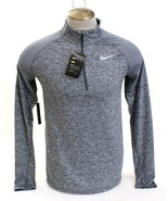 Nike Dri Fit  Heather Gray 1/2 Zip Long Sleeve Running Shirt Men's NWT - $74.99