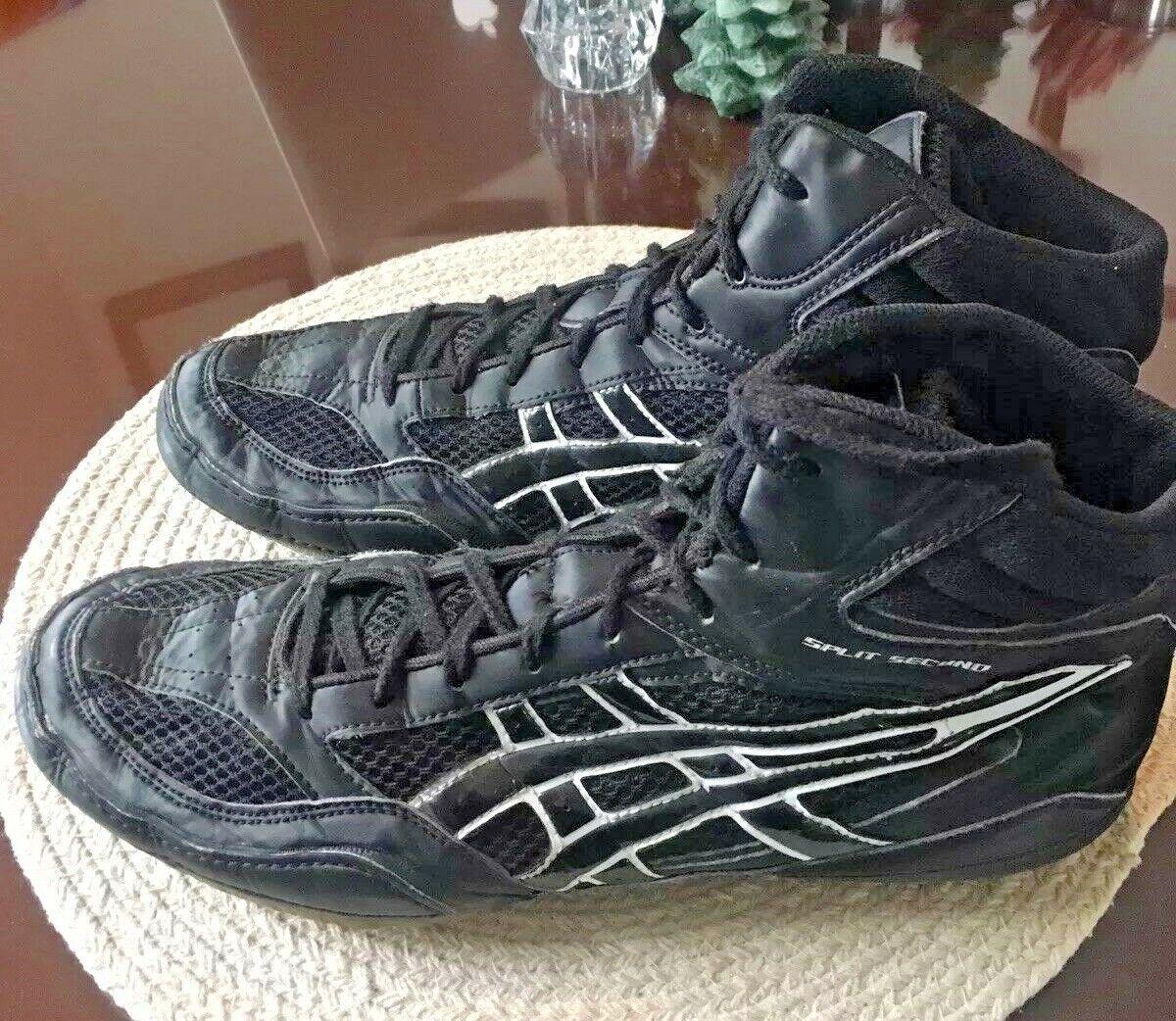 ASICS Spilt Second Black/white Mesh Wrestling Shoes Mens 12