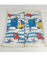 "2 VINTAGE HALLMARK DISNEY LITTLE MERMAID PAPER TABLE COVERS 54"" x 89"" BI... - $26.18"