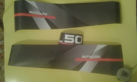 YAMAHA 50 AUTOLUBE - Outboard decal set, reproduction - $27.00