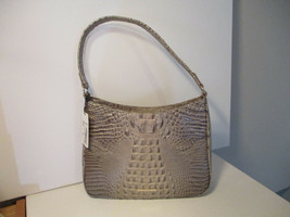 Authentic Brahmin Noelle Hemlock Melbourne Shoulder Bag Taupe Grey Leath... - $173.24