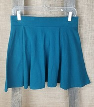 Forever 21 XII women's L mini skirt A-Line flare green - $18.81