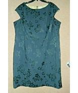 Avenue Curvy Plus 3X, 26W Cap Sleeve Black Floral Figure Flattering Shif... - $15.29
